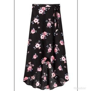 Divided floral wrap skirt 6